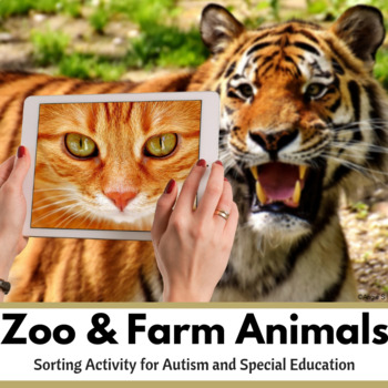 Farm and Zoo Animal Sort for Special Education