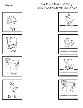 Zoo and Farm Worksheets