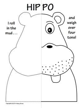 Zoo and Jungle BUNDLE Symmetry Activity Coloring Pages