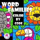 Zoo and Safari Color by Code Word Families Set