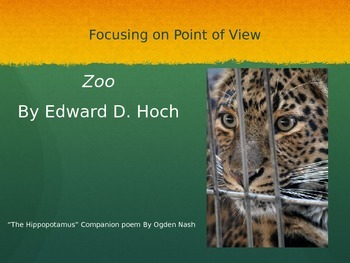 Zoo and The Hippopotamus Short Story and Poem Lesson