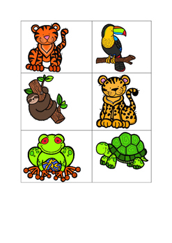 Zoo animal activities for the French classroom - flashcards and quiz