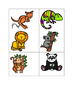 Zoo animal activities for the French classroom - flashcard