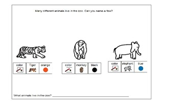 Zoo animal book and chimp facts craft