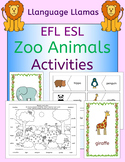 Zoo animals activities pack for a zoo topic or EFL ESL EAL
