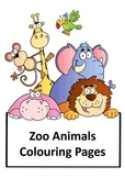 Zoo animals coloring pages full pack!