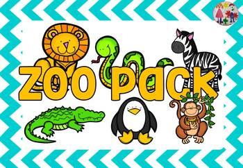 Zoo animals pack