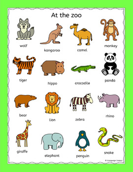 zoo animals puzzles pack for a zoo topic or efl esl eal by. Black Bedroom Furniture Sets. Home Design Ideas