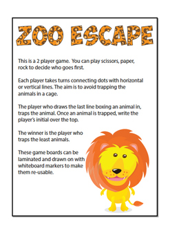 Zoo escape game
