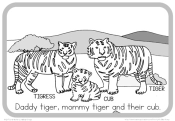 Zoo animal families book (simplified version)