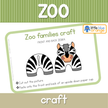 Zoo animal families craft