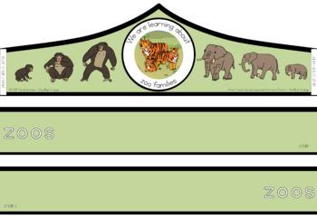 Zoo animal families cycle crown
