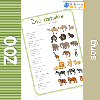 Zoo animal families  song