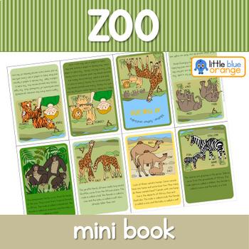 Zoo animal families mini book