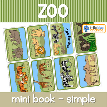 Zoo animal families mini book (simplified version)