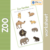 Zoo animal families  worksheet