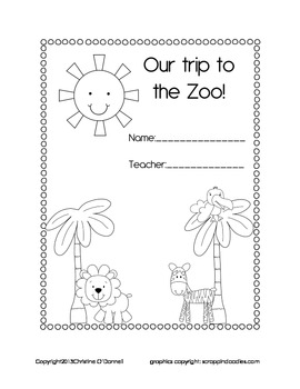 Zoo field trip recording book!