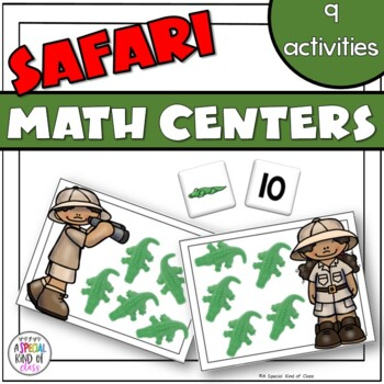 Safari Math Work Stations