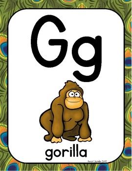 Zoo or Jungle Themed Alphabet Posters
