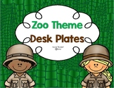 Zoo or Jungle Themed Desk Plates