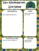 Zoo or Jungle Themed KINDERGARTEN Newsletter Template **EDITABLE**