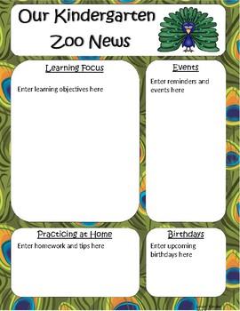 kindergarten newsletter template