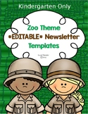 Zoo or Jungle Themed KINDERGARTEN Newsletter Template **ED