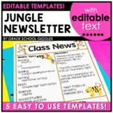 Newsletter Template: Editable Jungle Theme