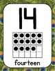 Zoo or Jungle Themed Number Posters with Ten Frames