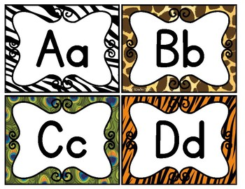 Zoo or Jungle Themed Word Wall Headers