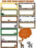Zoo Themed Frames - Rectangular