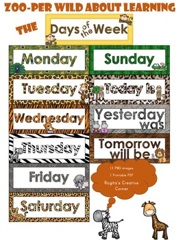 Zoo-per Wild About Learning the Days of the Week