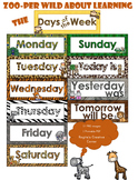 Zoo Theme Days of the Week