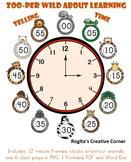 Zoo Theme Clock - Telling Time