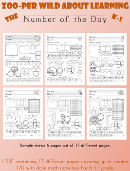 Zoo-per Wild about Learning the Number of the Day (Editabl