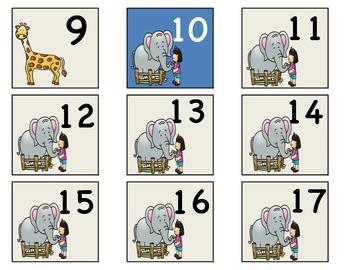 Zoo theme numbers