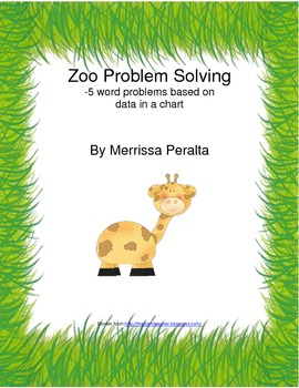 Zoo word problems-set of 5