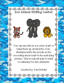 Zoo writing center