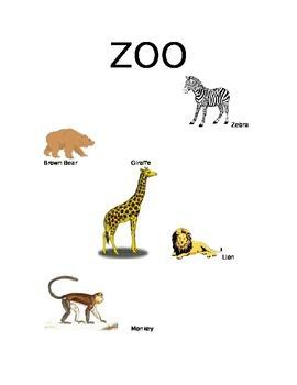 Zoo writing resource