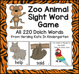 Zoo Animals Sight Word Game