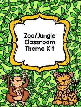 Zoo/Jungle Classroom Theme Kit