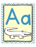 Zoo Animal Phonics Alphabet Posters