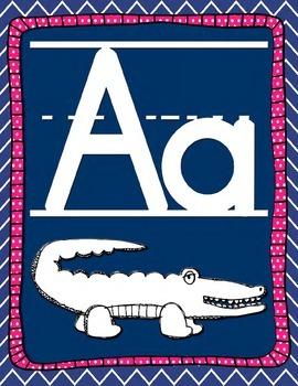 Zoo Animal Phonics Alphabet Wall Posters