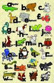 Zoo Animal Phonics Color Poster