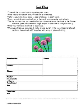 Zoo/Wildlife Refuge Project: classification, adaptations, and biomes