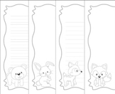 Woodland Animals Writing Paper - Black and White- 3 Styles -Fox included