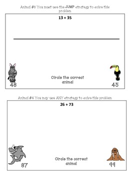 Common Core  Addition Two Digit and Three digit without regrouping