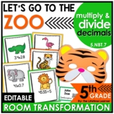 5th Grade Multiply and Divide Decimals | Zoo Room Transformation
