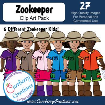 Zoo Kids Clipart