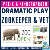 Zookeeper and Veterinarian Zoo Dramatic Play Pack